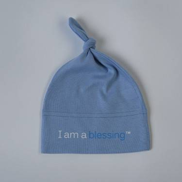 %27I am a blessing%27 ™Hat cmas15n, baby gear, hat, i am a blessing, white hat, blue words, youth, girl, boy, baby gift, baby shower gift, baptism gift,
