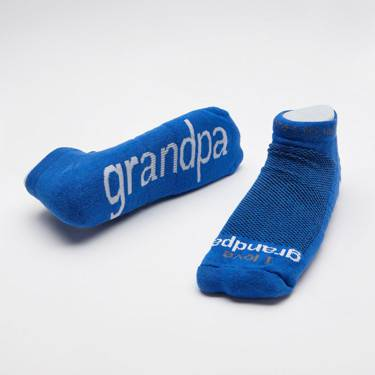 """I love Grandpa%27 ™ Royal Blue Socks message socks, inspirational socks, i love grandpa, royal blue socks, gift, any occasion gift, clothes, grandparents gift, grandpa gift, C304bc"