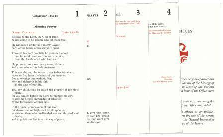 Inserts for Liturgy of the Hours liturgy of the hours, prayer, church book, 400/I inserts