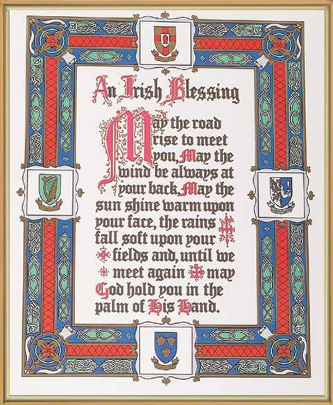 Irish Blessing Framed Picture irish blessing, home picture, new home gift, wedding gift, framed art, prayer, 81-222