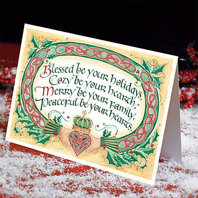 Irish Christmas Blessing Cards christmas cards, boxed cards, seasonal cards, boxed christmas cards, irish cards, claddagh christmas cards, irish blessing, 53340