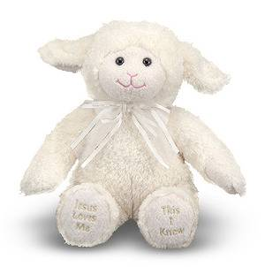 Jesus Loves Me Singing Lamb Stuffed Animal toy, baby toy, child toy, stuffed animal, singing stuffed animal, stuffed lamb,  singing lamb, baby gift, child gift, baptism, baptism gift, christening, christening gift, lamb gift ,lamb toy,