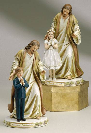Jesus with Child First Communion Statue first communion statue, jesus and boy, jesus and girl, first communion gift, girl gift, boy gift, joseph studio statue,