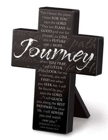 Journey Cross standing cross, inspirational cross,  gift, home decor cross, wedding gift,