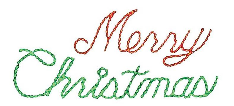 "LED Merry Christmas 24"" x 174"" Sign (3 Color Options)"