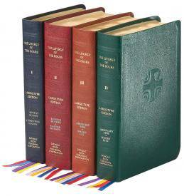 LITURGY OF THE HOURS (SET OF 4) LARGE PRINT LEATHER liturgy of the hours, prayer, church book, 709/13