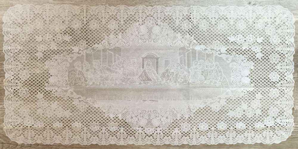Last Supper Table Runner table runner, last supper, home decor, easter decor, first communion decor, lace, runner, 59285