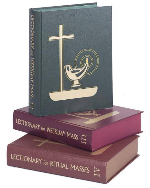Lectionary-Weekday Mass(SET OF 3) readings, scripture, reflection, liturgy of the hours, lectionary, weekday mass, 95/s