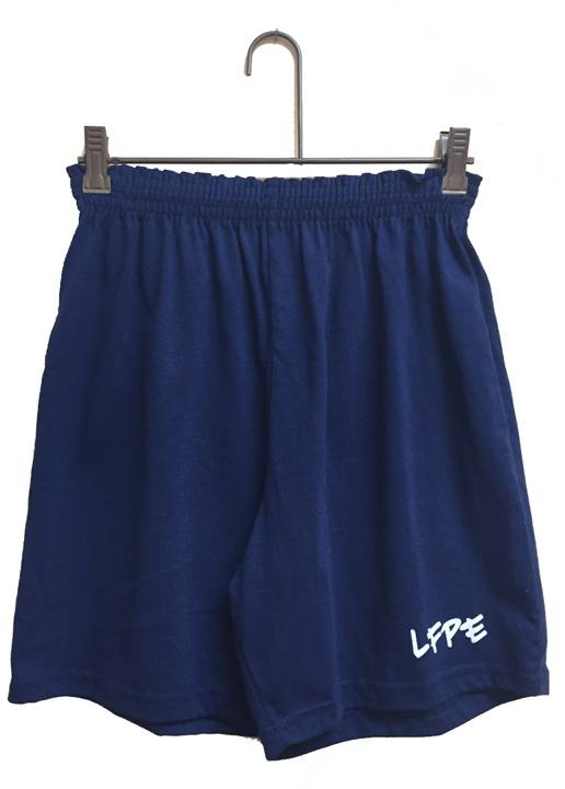Little Flower Navy Gym Short CUSTOM GYMS HORT, PE GYM SHORT, NAVY SHORTS, GYMSHORTS, GYM SHORTS