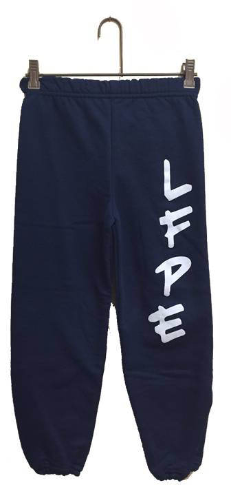 Little Flower Navy Sweatpant CUSTOM SWEATPANT, PE SWEATPANT, NAVY SWEAT PANT, GYM SWEAT PANT, GYM SWEATPANT