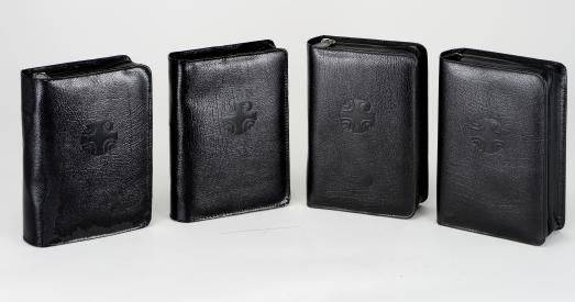 Liturgy of the Hours Black Leather Case (set of 4) liturgy of the hours, prayer, church book, leather case, carry case, 409/13lc