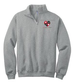 MSHS Quarter-Zip Grey Sweatshirt, Embroidered