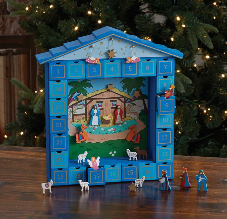 Magnetic Nativity Advent Calendar *WHILE THEY LAST* advent calendar, wooden advent calendar, wood advent calendar, adler advent calendar, kurt adler advent calendar, wooden calendar with doors, childrens advent calendar, kids advent calendar, child%27s advent calendar, childs advent calendar, children%27s advent calendar, kiddie advent calendar, coumtdown to christmas, countdown to christmas calendar