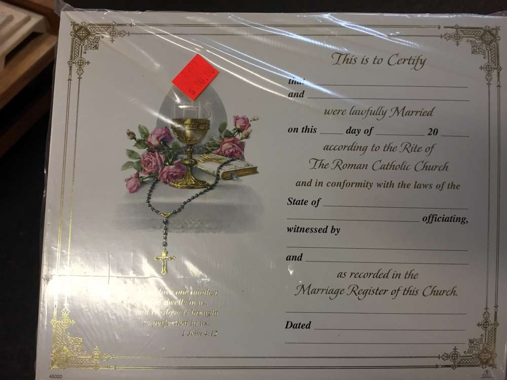 Marriage Certificates, Pack of 100