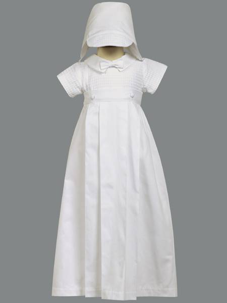 %27Mason%27 Christening Cotton Romper with Detachable Gown christening romper, christening oufit, christening suit, baptism romper, baptism outfit, baptism suit, boy suit, boy outfit, detachable gown