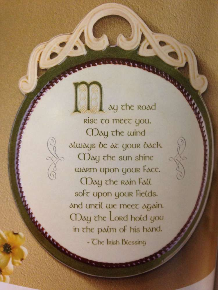 May The Road Rise Ceramic Plaque 463831,ceramic plaque, irish plaque, wall decor, home decor, house warming gift, irish blessing, 463831