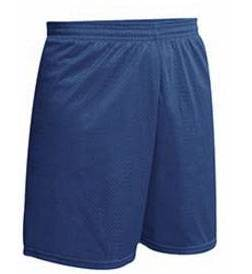 "Navy Mesh Gym Short, 7"" Inseam, No Logo"