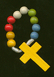 Mission Finger Rosary rosary, finger rosary, multi color wood bead, mission rosary, 10265, italian,