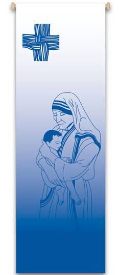 Mother Teresa Banner MT,mother theresa statue, saint mother teresa, saint teresa, head of mother theresa, saint statue, marble statue, home decor, church decor, banner, altar decor, 7131