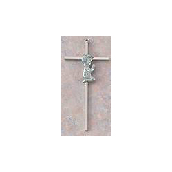 Nickel Plated Baby Wall Cross new baby gift, baptism gift, christening gift, shower gift, wall croww, pewter cross, brass cross,,baptism cross, christening cross, boy cross, girl cross