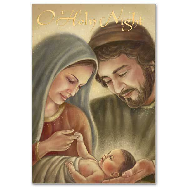 O Holy Night Boxed Christmas Cards christmas cards, box cards, holy family cards, wcr2065, holiday cards