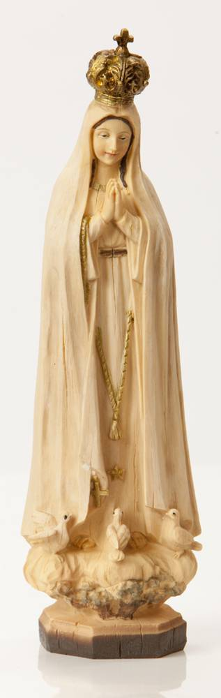 "8"" Our Lady of Fatima Statue Heaven%27s Majesty® *WHILE SUPPLIES LAST* our lady of fatima, portugal, wood carved look, home decor, church decor, hl06422-1b"