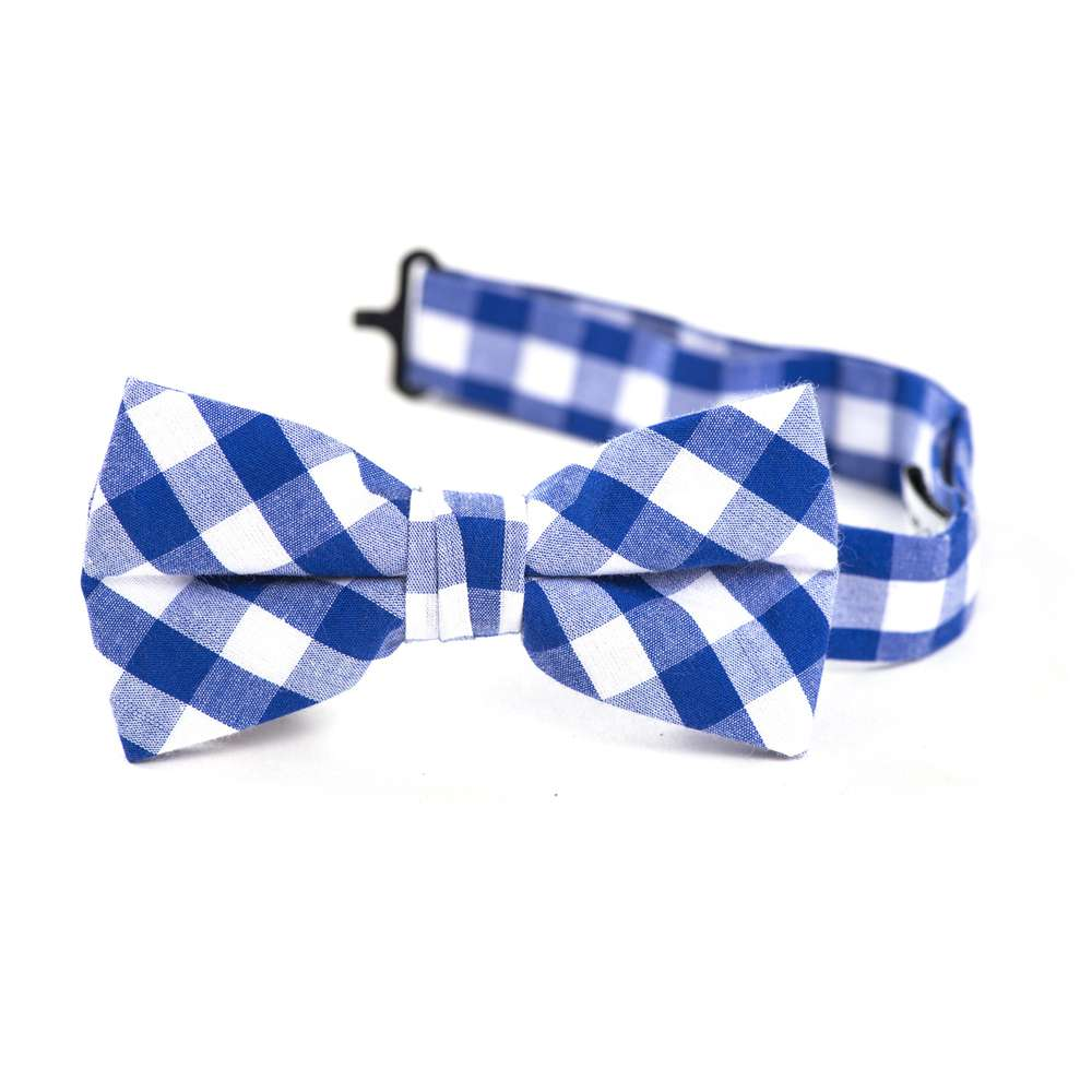 Royal Blue Gingham Bow Tie bow tie, bowtie, boys tie, first communion tie, boys first commuion apparel, first communion apparel, boys communion tie, boys tie, boy%27s tie, boys plaid tie, plaid tie, neckties