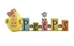 %27I love My Peeps%27 Beaded Blocks with Chick home decor, easter decor, peeps, chick decor, message blocks, table decor, seasonal, 161-10427