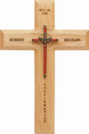 Personalized Confirmation Wall  Cross wall cross, wall crucifix, confirmation cross, holy spirit cross, confirmation gift, sacrametnal gift, RCIA gift.