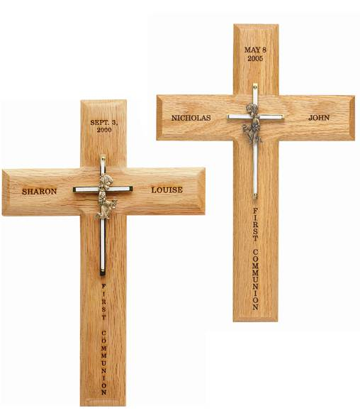 Personalized First Communion Cross First Communion, first commmunion gift, girl gift, boy gift, first communion girl, first communion boy, holy eucarist, first holy communion, boy eucharist, girl eucharist, wood wall cross, personalized wall cross