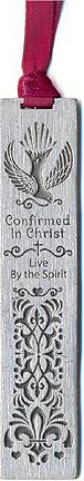 Pewter Confirmation Bookmark confirmation bookmark, pewter bookmark, bookmark, confirmation gift, holy spirit, boy gift, girl gift, unique gift,