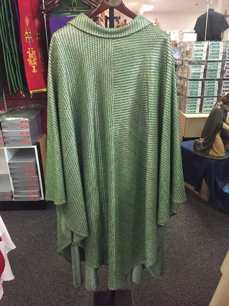 Pietrobon Bruno Green Woven Chasuble