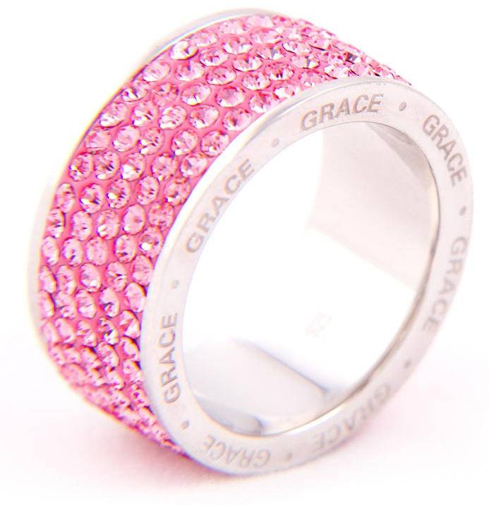 Pink Crystal %27Grace%27 Ring*WHILE SUPPLIES LAST* sterling silver ring, silver ring, trendy ring, pink crystal, message ring, jewelry,04426, 04427, 04428, 04429