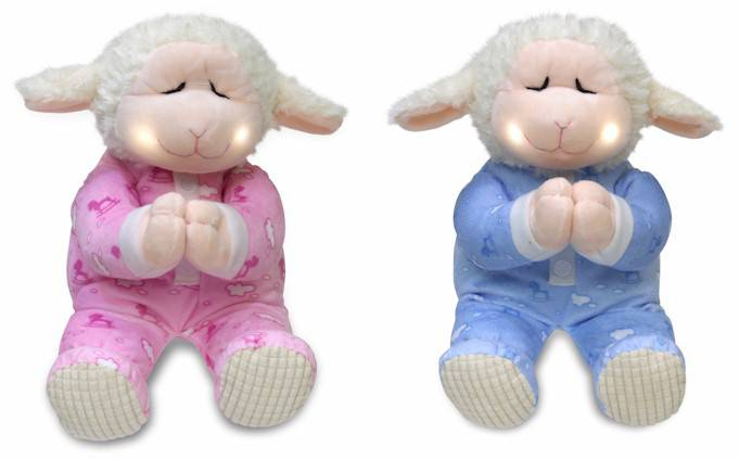 %27Pray With Me%27Plush Prayer Lamb Pink/Blue plush lamb, soft lamb toy, lamb toy, lambie toy, girls baby toy, girls baby gift, baby gift, baptism gift, baptism present, baby present, teach kids to pray