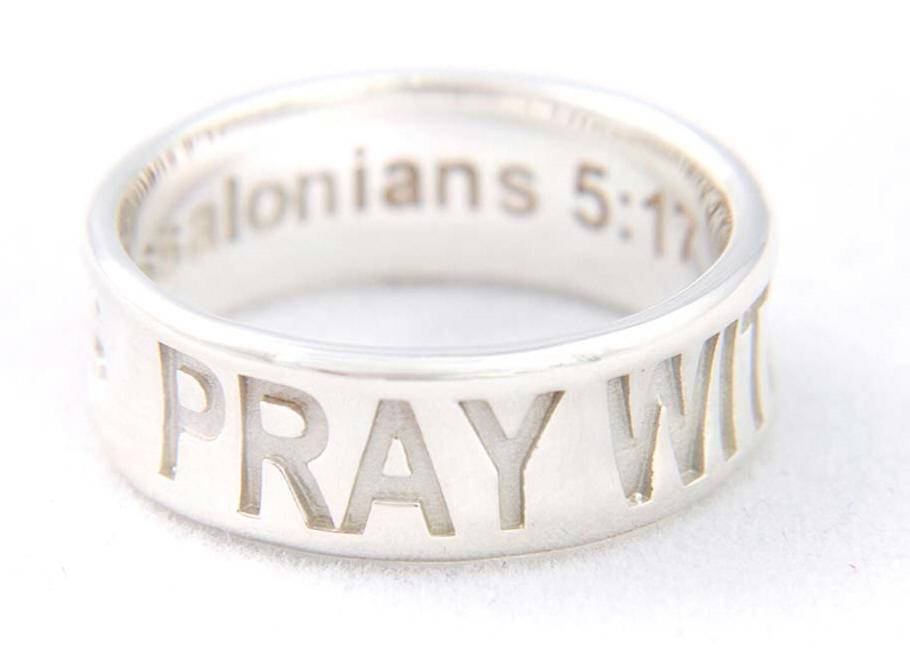 %27Pray Without Ceasing%27 Ring*WHILE SUPPLIES LAST* sterling silver ring, silver ring, trendy ring, corintheians, 04415,04416,04417,04418,04419, jewelry,