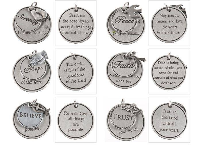 Assorted Prayer Pocket Tokens pocket token, message pocket tokens, message crosses, pocket cross, inspired quotes, prayer tokens, retreat gifts, group gifts, party favors, EA16860