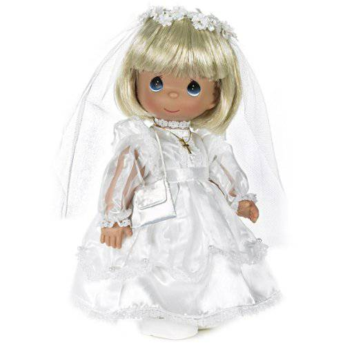Precious Moments Blonde First Communion Doll pm doll, precious moment doll, first communion doll, communion doll, communion doll dress, girls doll, sacramental doll, doll in white dress