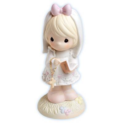 Precious Moments %27This Day Has Been Made in Heaven%27 precious moments, first communion, girl, holy eucharist, porcelain figure, statue, gift, 523496
