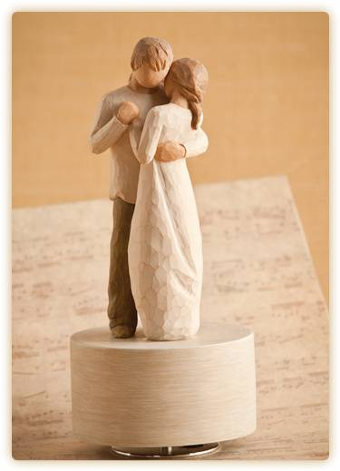 Willow Tree™ Promise Musical Figurine wedding gift, musical gift, willow tree gift, willow tree marriage figurine, promise musical, Canon in D Major,  shower gift,