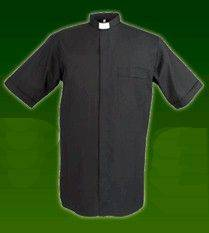 Reliant Short Sleeve Black Tab Collar Clergy Shirt clergy shirt, short sleeve, black shirt, trevor floyd, reliant, mens clergy shirt, collar shirt, tab collar, 7441