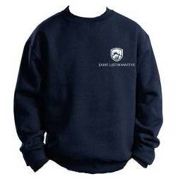 SJM Embroidered Uniform Sweatshirt spirit wear, spiritwear, school spirit gear, school fleece, school pullover, school sweatshirt, school bookstore items, school accessories, custom school spiritwear, custom school gift items, custom school spirit wear