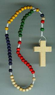 Small Mission Rosary rosary, wood rosary, mission rosary, colored,  italian made, sacramental rosary, 00861,sacramental gift,