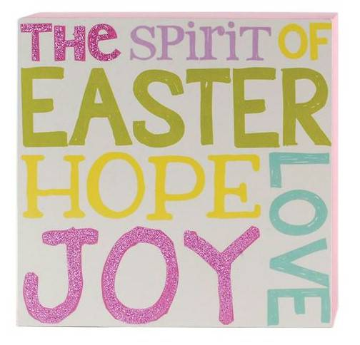 'Spirit of Easter' Wall Box Sign box sign, box message holder, home decor, inspriational message, house gift, easter gift, easter decor, spirit of easter, 151-39126