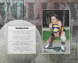Sports Mat- Volleyball communion gift, reconciliation gift, confirmation gift,frame mat, sport mat, youth gift,  sport frame, sport mat frame, sports prayer, prayer for athletes,volleyball gift, volleyball frame mat