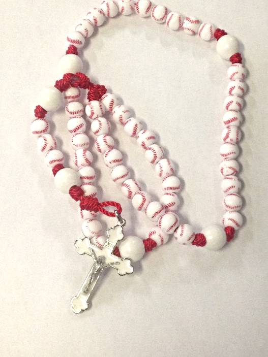Sports Rosaries-Baseball sports rosary, first communion gift, reconciliation gift, confirmation gift, youth gift, birhtday gift, boy gift, girl gift, sport gift, athlete gift, rosary,youth rosary,baseball gift, baseball rosary