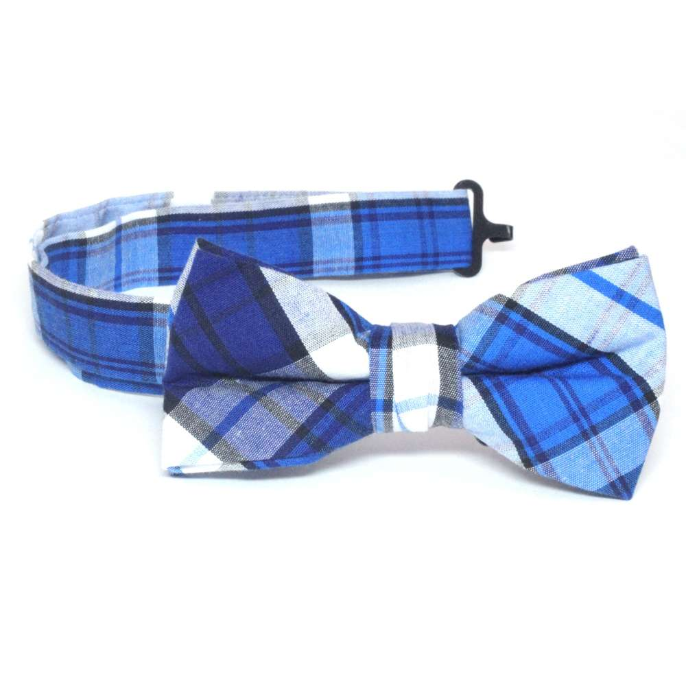 Blue and White Plaid Bow Tie bow tie, bowtie, boys tie, first communion tie, boys first commuion apparel, first communion apparel, boys communion tie, boys tie, boy%27s tie, boys plaid tie, plaid tie, neckties