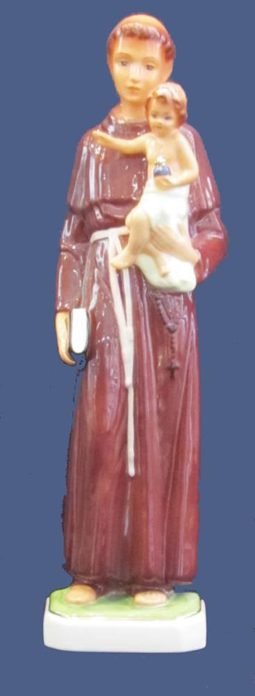 St. Anthony Ceramic Statue st anthony statue, patron of lost things, ceramic statue, home decor, church decor, m/4025