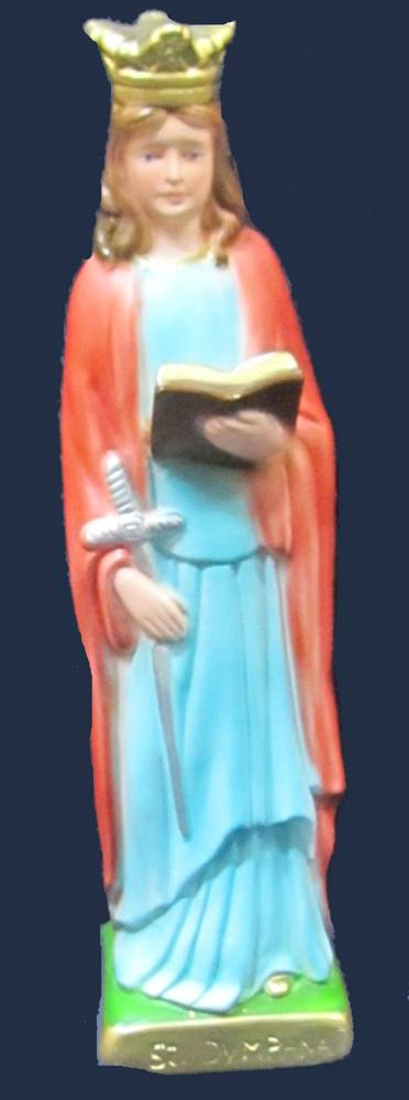 St. Dymphna Statue plaster statue, italian plaster, made in italy, hand painted statue, home decor, church decor, st dymphna statue,