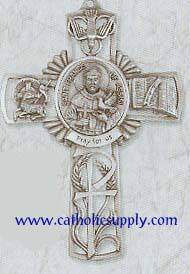 St. Francis of Assisi Pewter Cross wall cross, patron saint cross, pewter cross, baptism cross, first communion cross, reconciliation cross, confirmation cross, christening cross, eucharist cross, sacramental gift, baptism gift, christening gift, special occasion gift
