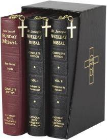 ST JOSEPH MISSAL GIFT SET OF 3 missal, annual, church liturgy,825/23